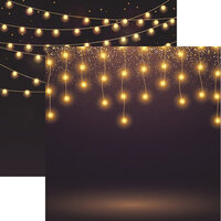 Reminisce - Light It Up Collection - 12 x 12 Double Sided Paper - Shiny Lights