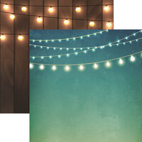 Reminisce - Light It Up Collection - 12 x 12 Double Sided Paper - String of Lights