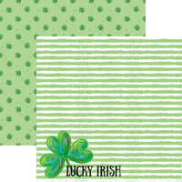 Reminisce - Lucky Irish Collection - 12 x 12 Double Sided Paper - Lucky Day