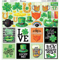 Reminisce - Lucky Irish Collection - 12 x 12 Sticker Sheet