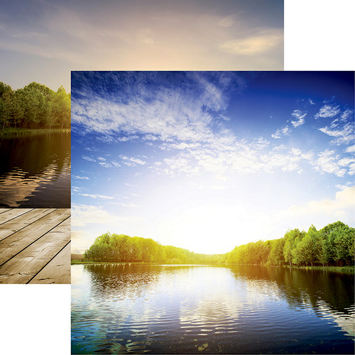 Reminisce - Lake Life Collection - 12 x 12 Double Sided Paper - Lake Life