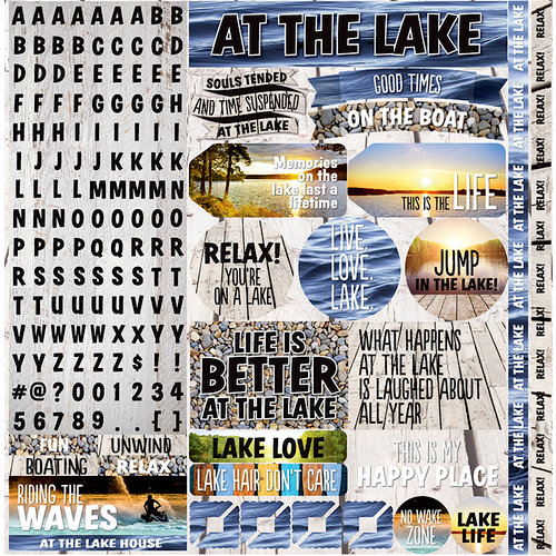 Reminisce - Lake Life Collection - 12 x 12 Cardstock Stickers - Combo