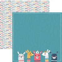 Reminisce - Llama Love Collection - 12 x 12 Double Sided Paper - Llama Love 01