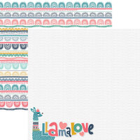 Reminisce - Llama Love Collection - 12 x 12 Double Sided Paper - Llama Love 04