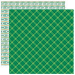 Reminisce - Lucky Me Collection - 12 x 12 Double Sided Paper - Lucky Plaid