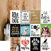 Reminisce - Love My Dog Collection - 12 x 12 Double Sided Paper - My Best Friend
