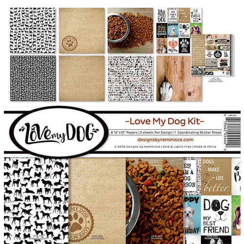 Reminisce - Love My Dog Collection - 12 x 12 Collection Kit