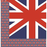 Reminisce - London Collection - 12 x 12 Double Sided Paper - British Flag