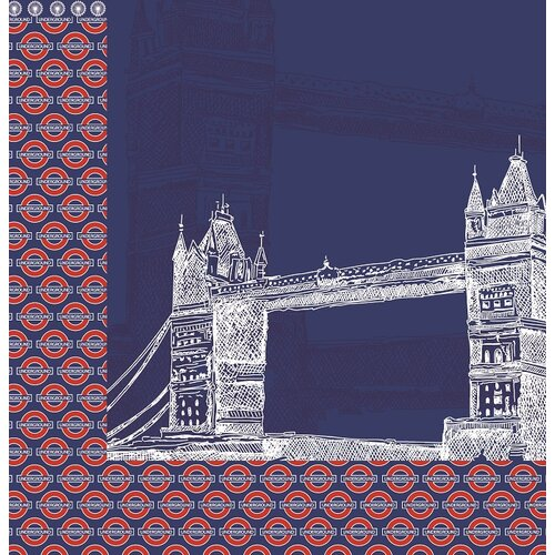 Reminisce - London Collection - 12 x 12 Double Sided Paper - Tower Bridge