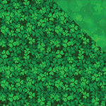 Reminisce - Lucky Collection - 12 x 12 Double Sided Paper - All Over Clover