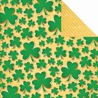 Reminisce - Lucky Magic Collection - 12 x 12 Double Sided Paper - Lucky Shamrock