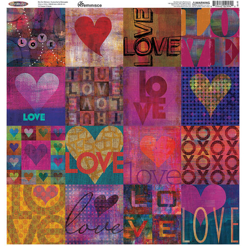 Reminisce - Love Is Love Collection - 12 x 12 Cardstock Stickers - Square