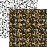 Reminisce - Love Your Face Collection - 12 x 12 Double Sided Paper - Face Mask