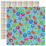 Reminisce - Monsters Collection - 12 x 12 Double Sided Paper - Monster Party