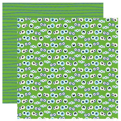 Reminisce - Monsters Collection - 12 x 12 Double Sided Paper - What Are You Looking At
