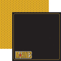 Reminisce - Marines Collection - 12 x 12 Double Sided Paper - 1