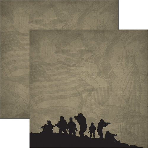 Reminisce - Marines Collection - 12 x 12 Double Sided Paper - 3
