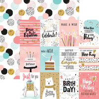 Reminisce - Make a Wish Collection - 12 x 12 Double Sided Paper - Happy Birthday