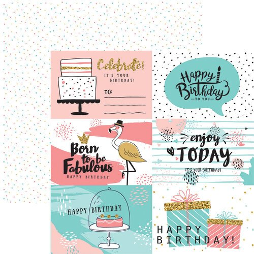 Reminisce - Make a Wish Collection - 12 x 12 Double Sided Paper - Party Time
