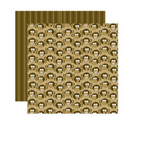 Reminisce - Monkey Business Collection - 12 x 12 Double Sided Paper - Funky Monkey