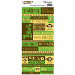 Reminisce - Monkey Business Collection - Cardstock Stickers - Monkey Business Quote