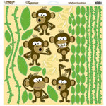 Reminisce - Monkey Business Collection - 12 x 12 Cardstock Stickers - Monkey Business Icon