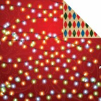 Reminisce - Magical Christmas Collection - 12 x 12 Double Sided Paper - Magical Lights