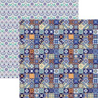 Reminisce - Mexico Collection - 12 x 12 Double Sided Paper - Talavera