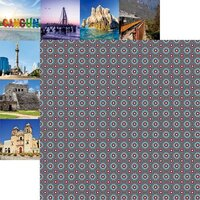Reminisce - Mexico Collection - 12 x 12 Double Sided Paper - Viva Mexico