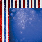 Reminisce - Magical Fourth Collection - 12 x 12 Double Sided Paper - Magical Stars