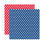 Reminisce - Made in the USA Collection - 12 x 12 Double Sided Paper - Celebration Dots