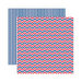 Reminisce - Made in the USA Collection - 12 x 12 Double Sided Paper - Celebration Multi Chevron