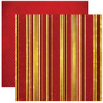 Reminisce - Magical Love Collection - 12 x 12 Double Sided Paper - Love Stripe