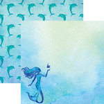 Reminisce - Mermaid's Tale Collection - 12 x 12 Double Sided Paper - The Little Mermaid