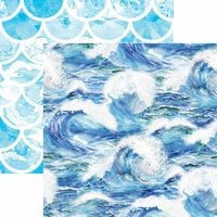 Reminisce - Mermaid's Tale Collection - 12 x 12 Double Sided Paper - Ocean Waves