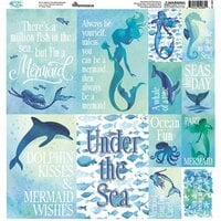 Reminisce - Mermaid's Tale Collection - 12 x 12 Cardstock Stickers - Poster