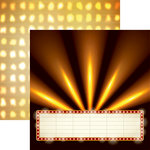 Reminisce - Movie Night Collection - 12 x 12 Double Sided Paper - Marquee