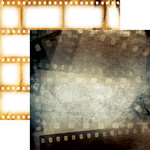 Reminisce - Movie Night Collection - 12 x 12 Double Sided Paper - Feature Film