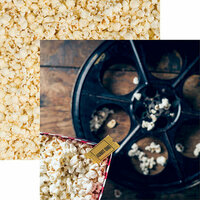 Reminisce - Movie Night Collection - 12 x 12 Double Sided Paper - Snack Time