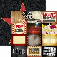 Reminisce - Movie Night Collection - 12 x 12 Double Sided Paper - Movie Night