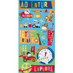 Reminisce - Monkey Adventures Collection - Layered Chipboard Stickers