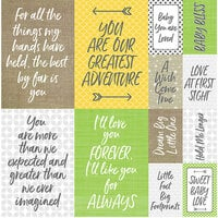 Reminisce - Modern Baby Collection - 12 x 12 Cardstock Stickers - Poster