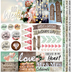 Reminisce - Modern Wedding Collection - 12 x 12 Cardstock Stickers - Elements