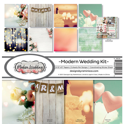 Reminisce - Modern Wedding Collection - 12 x 12 Collection Kit