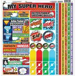 Reminisce - My Super Hero Collection - 12 x 12 Cardstock Stickers - Multi