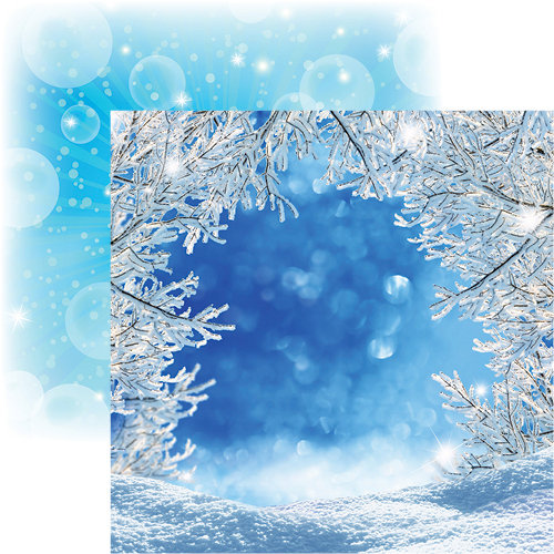 Reminisce - Magical Too Collection - 12 x 12 Double Sided Paper - Magical Winter