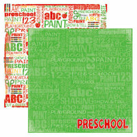Reminisce - Making the Grade Collection - 12 x 12 Double Sided Paper - Preschool