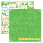 Reminisce - Making the Grade Collection - 12 x 12 Double Sided Paper - Second Grade