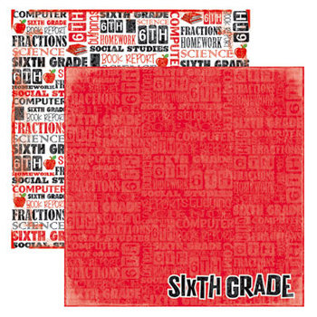 Reminisce - Making the Grade Collection - 12 x 12 Double Sided Paper - Sixth Grade