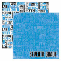 Reminisce - Making the Grade Collection - 12 x 12 Double Sided Paper - Seventh Grade